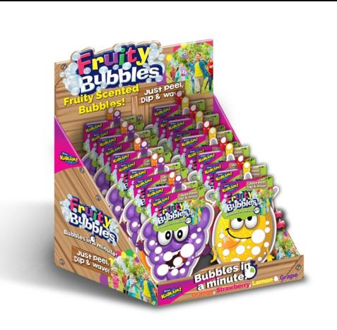 Fruity Bubbles Single Pack in CDU (4 Assorted)