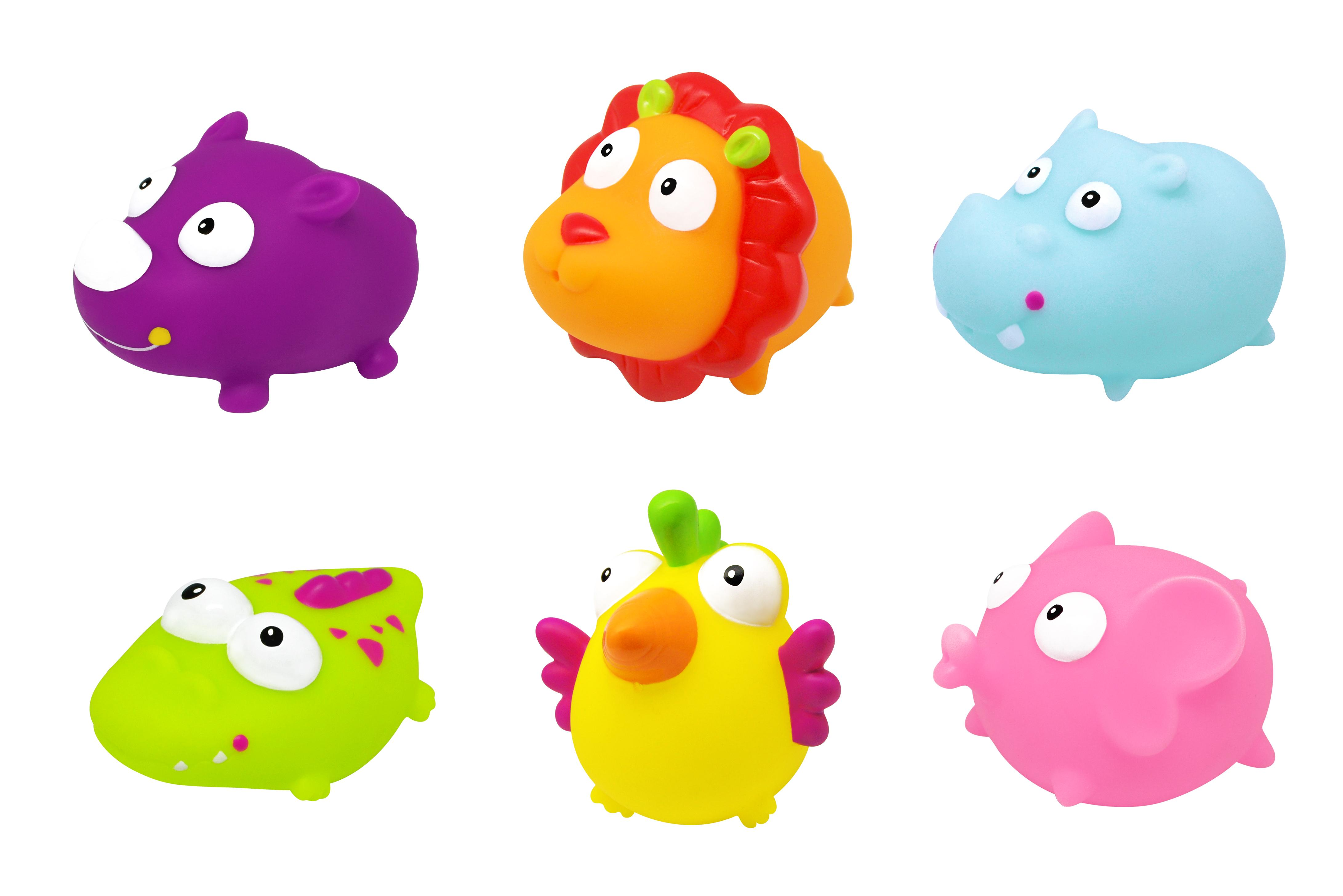 PLOUF : SQUIRTERS - SET OF 6 - JUNGLE