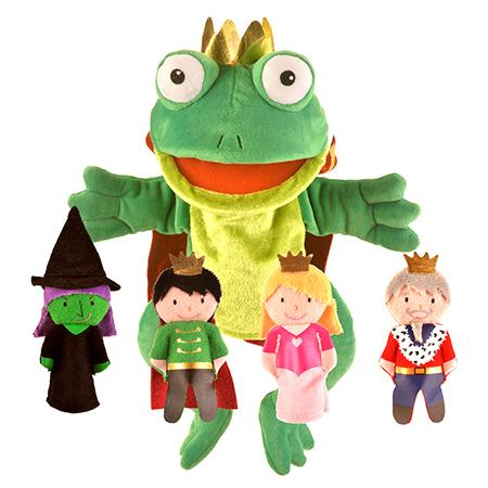 Frog Prince Hand and Finger Puppet Set