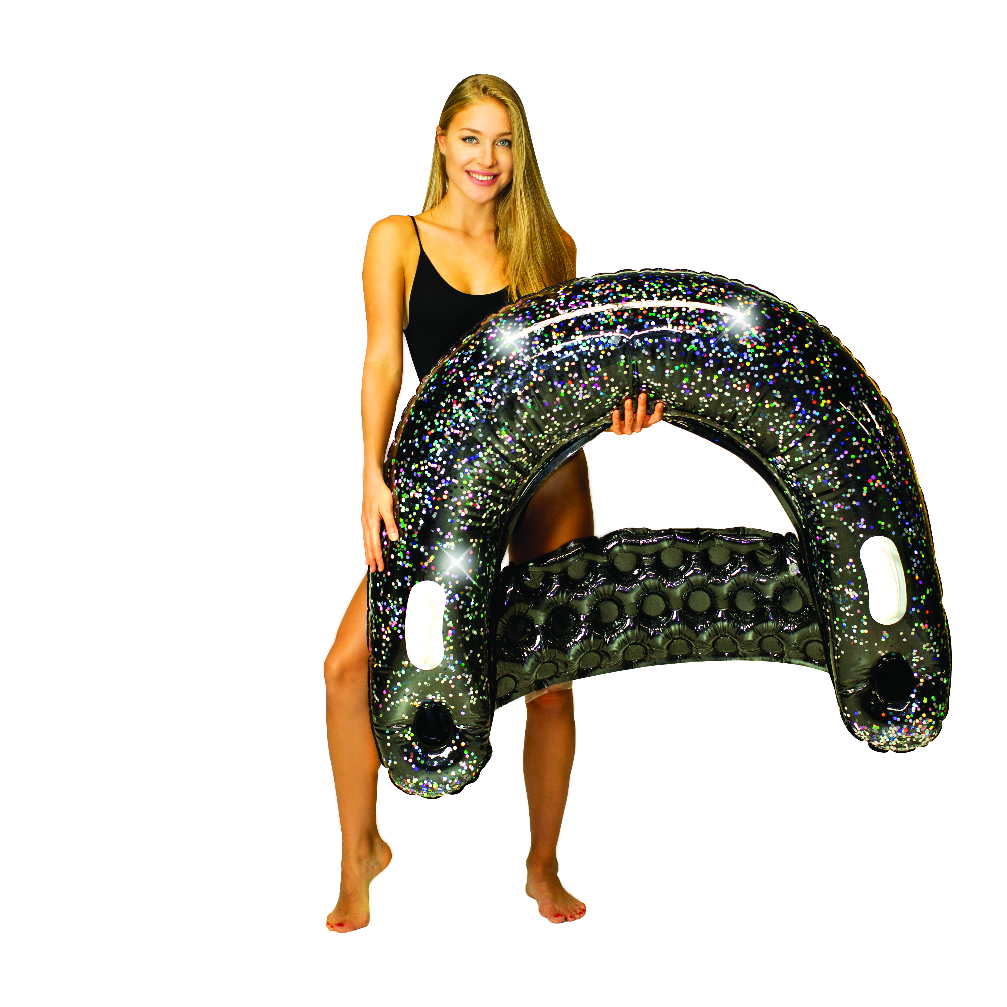 Glitter Sun Chair - Black Onyx Glitter
