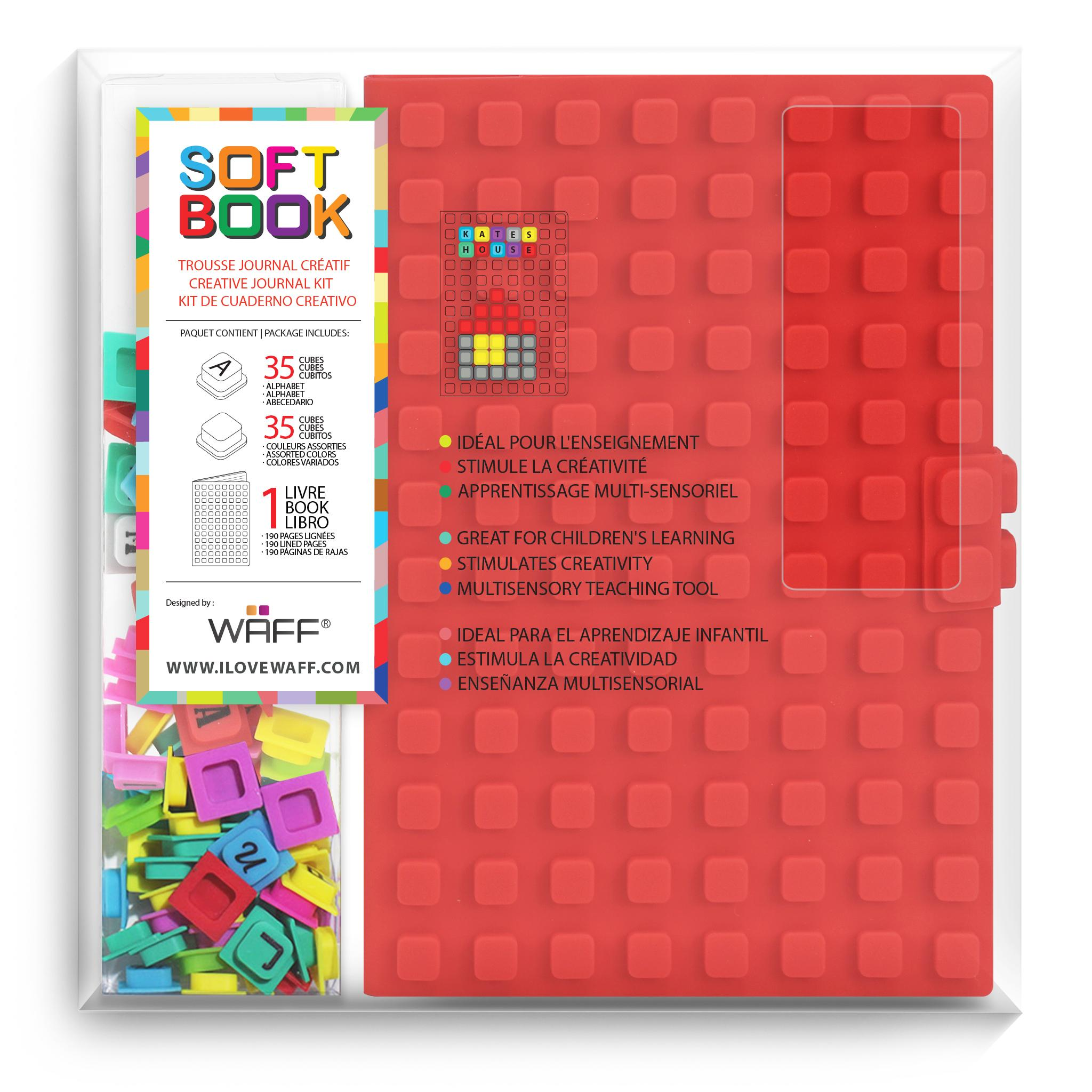 WAFF Soft Book Red Large size with cubes