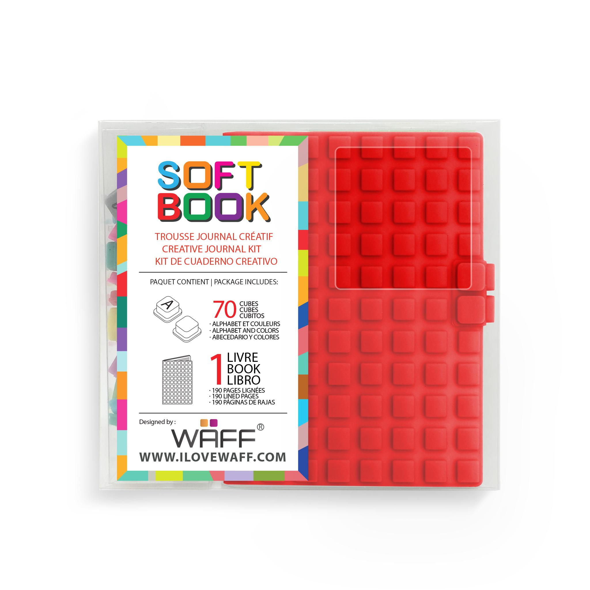 WAFF Soft Book RED MINI size with cubes