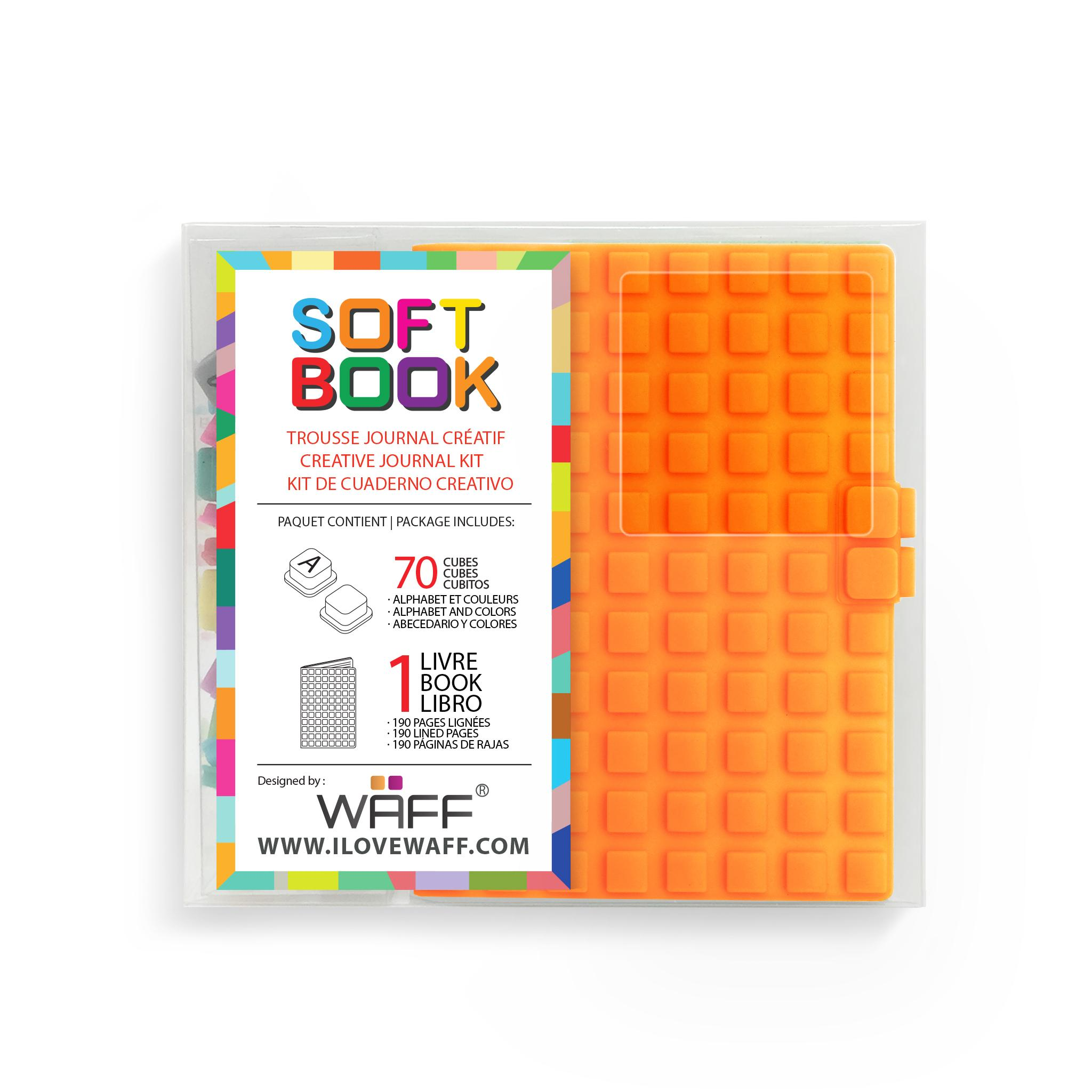 WAFF Soft Book ORANGE MINI size with cubes