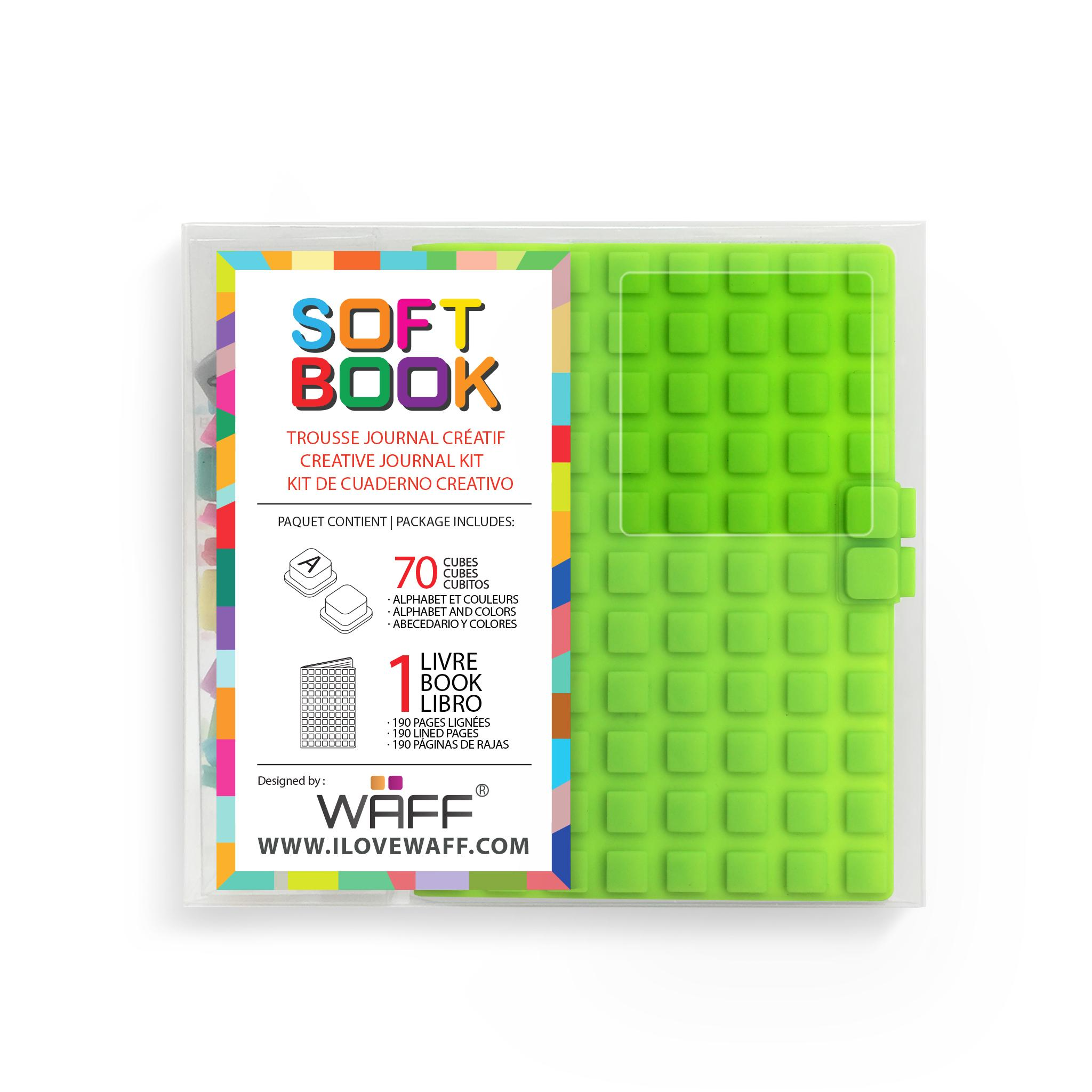 WAFF Soft Book GREEN MINI size with cubes