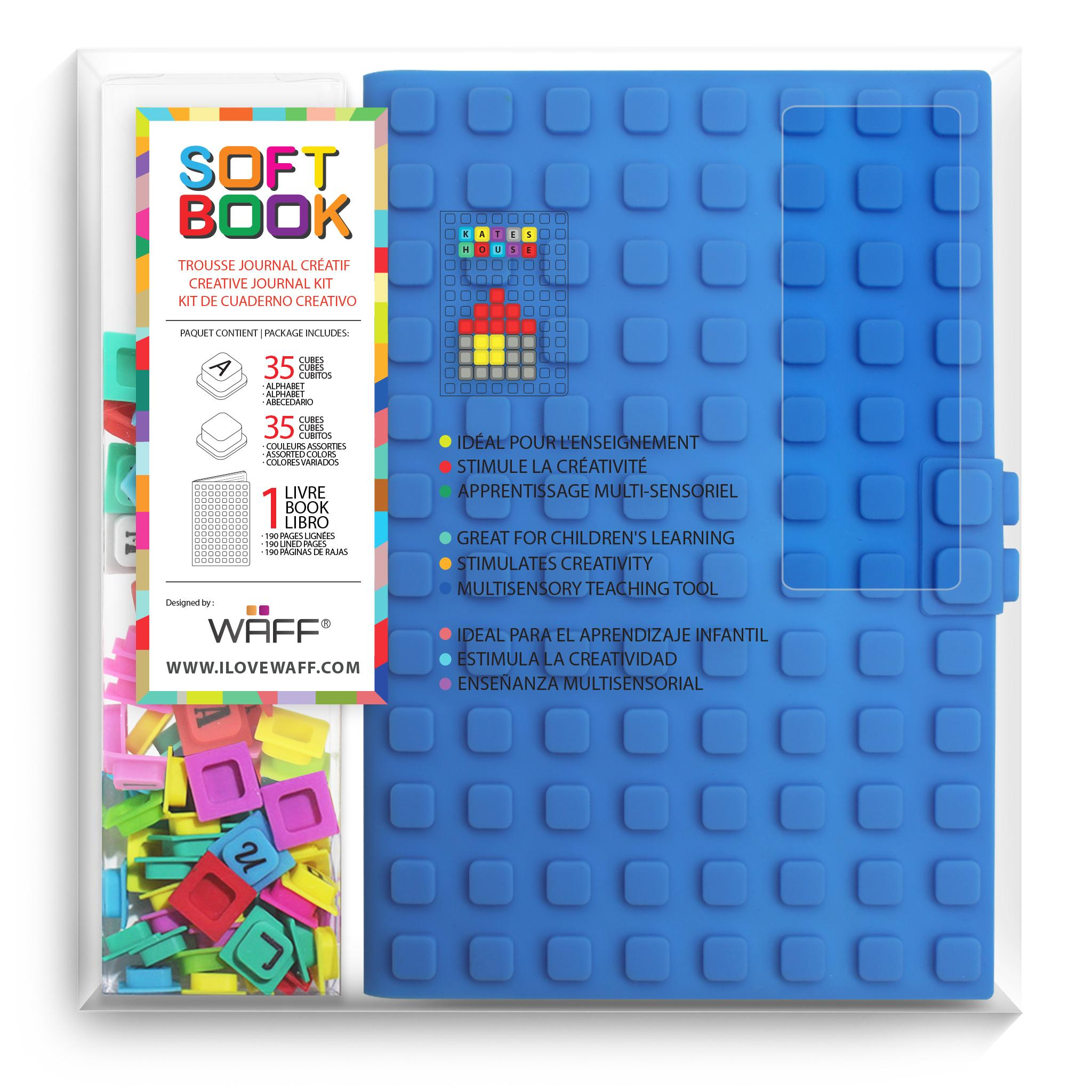 WAFF Soft Book Blue Large size with cubes
