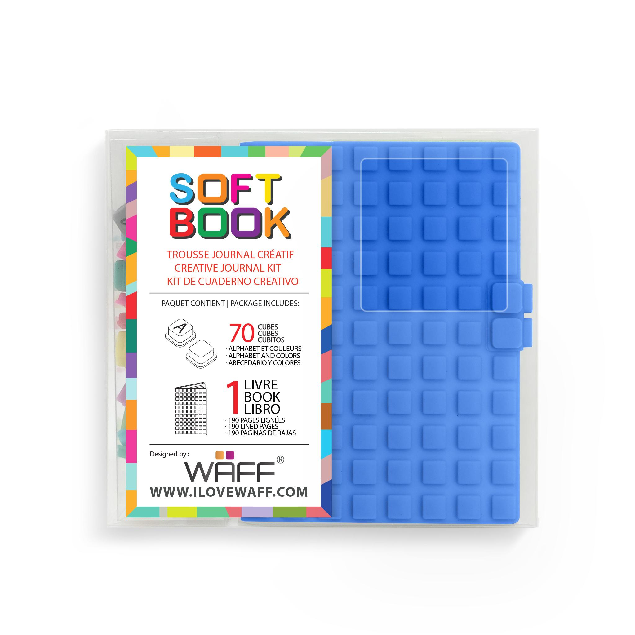 WAFF Soft Book BLUE MINI size with cubes