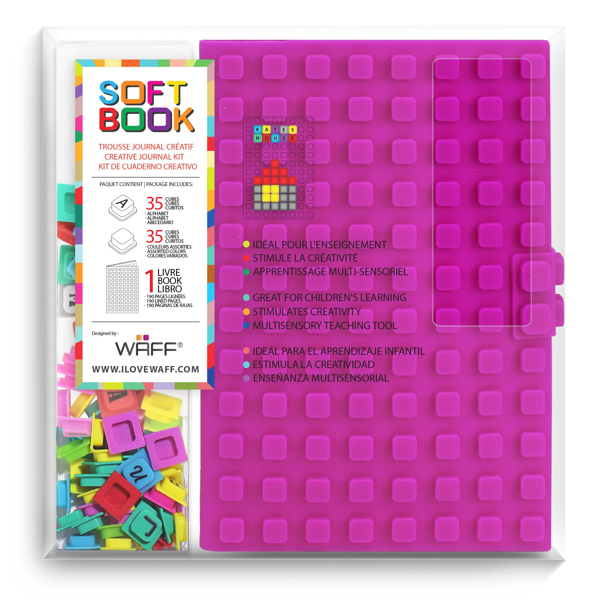 WAFF Soft Book Purple Large size with cubes