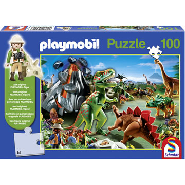 Casse têtes: 100 Playmobil In Dino Country